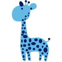 Sticker Bébé girafe