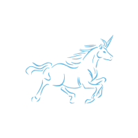 Sticker Licorne au galop